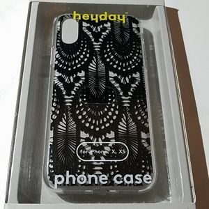 Black and white Heyday phone case for iPhone x, Xs